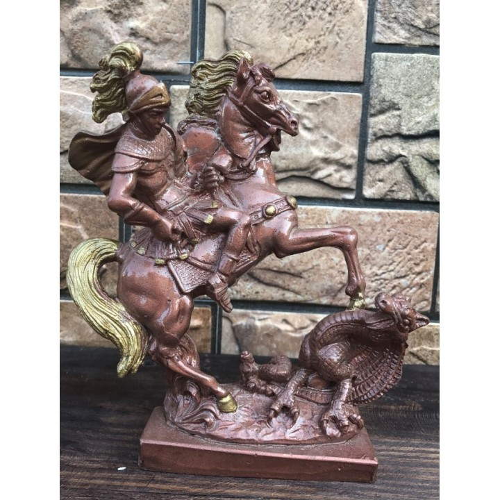 Статуэтка Георгия Победоносца (барельеф)