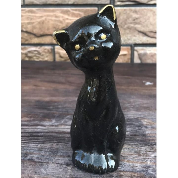 Статуэтка черного котёнка