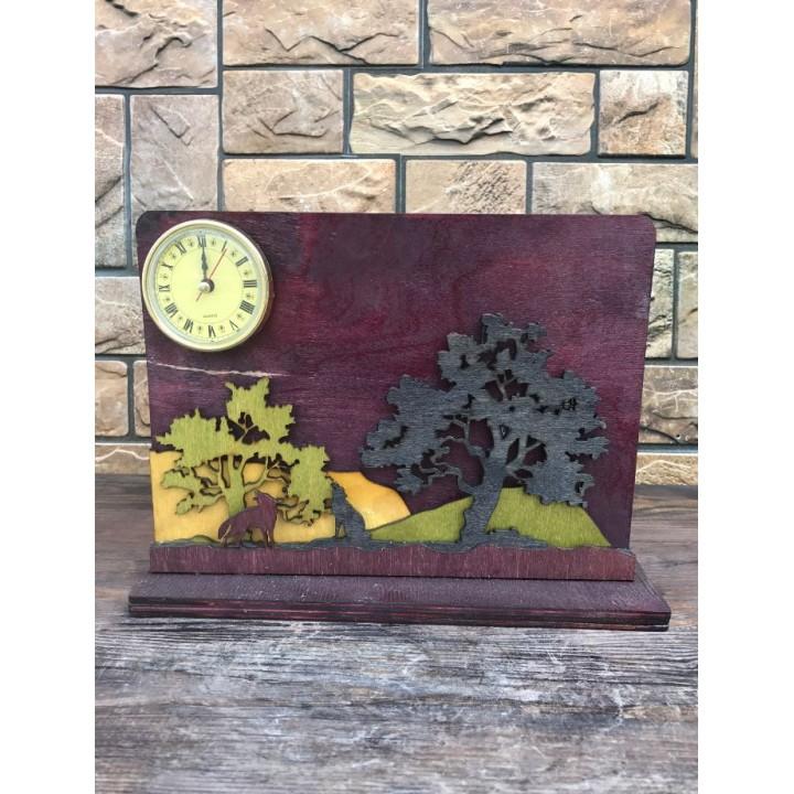 Часы из дерева «Лес»