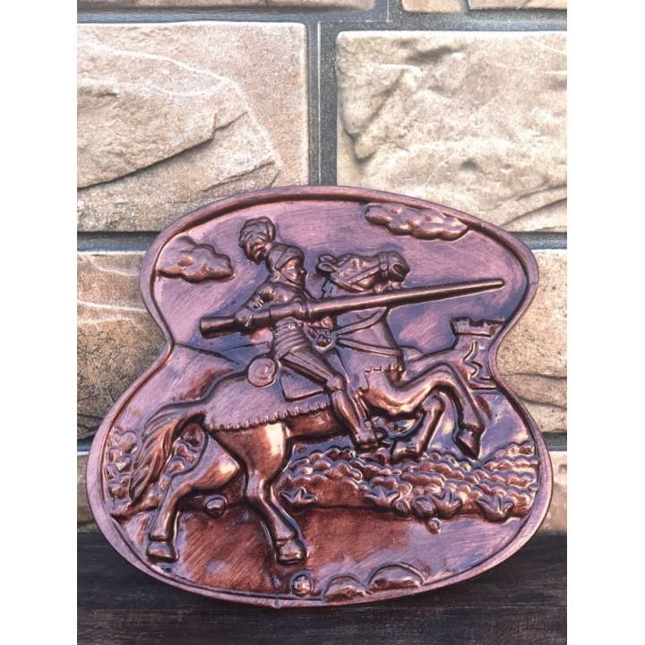 Статуэтка-панно Рыцарь на коне