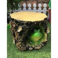 Садовая фигура Лягушка в пне