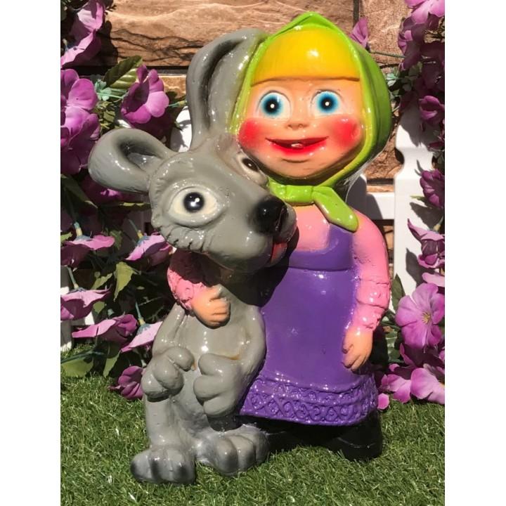 Садовая фигура Алёнка с зайцем