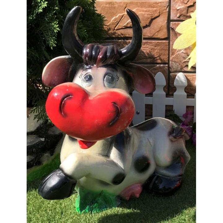 Садовая фигура коровы
