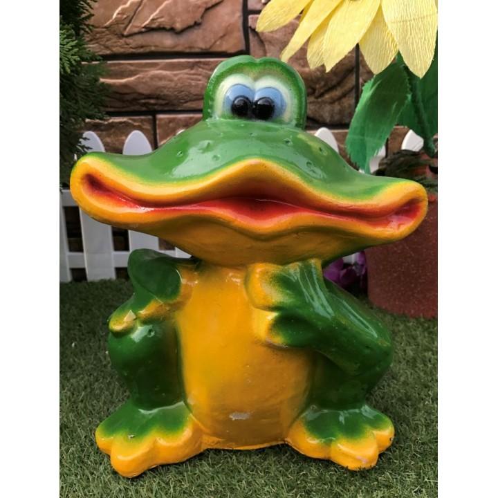 Садовая фигура Улыбающаяся лягушка