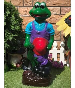 Садовая фигура Лягушка с лопатой