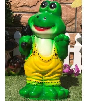 Садовая фигура Лягушонок с кувалдой