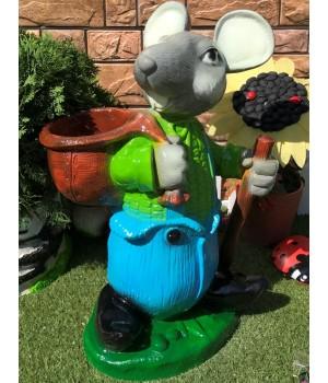 Кашпо Мышь с горшком