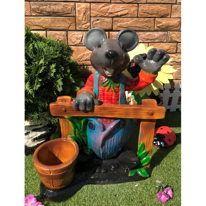 Кашпо Мышь у забора
