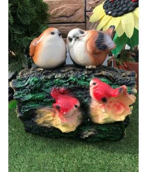 Садовая фигура Птичке на пне