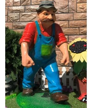 Садовая фигура Колхозник с вёдрами