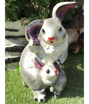 Копилка Заяц с зайчонком