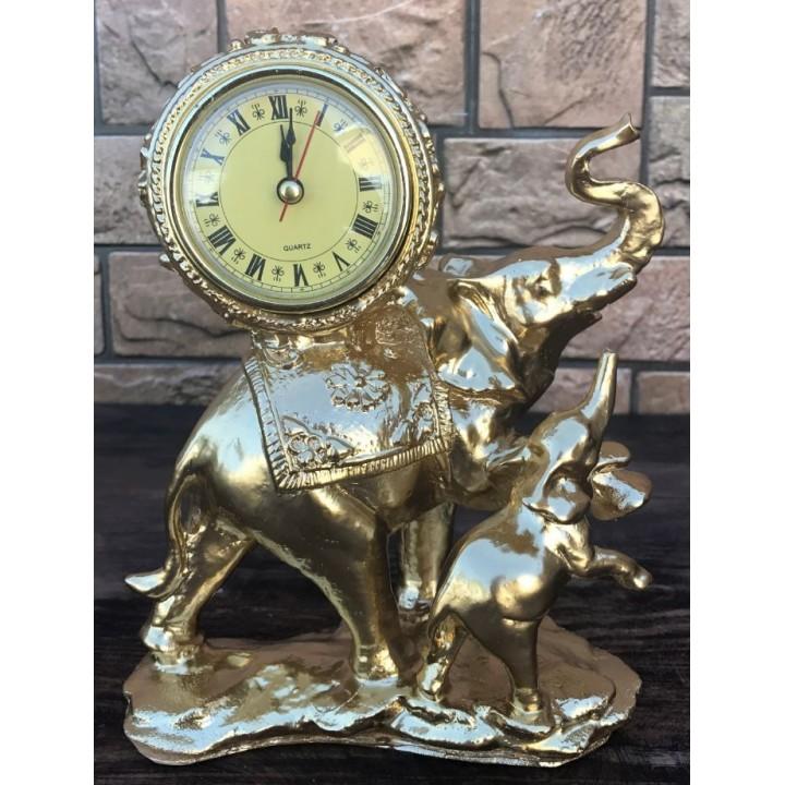 Настольные часы «Слон и слонёнок»