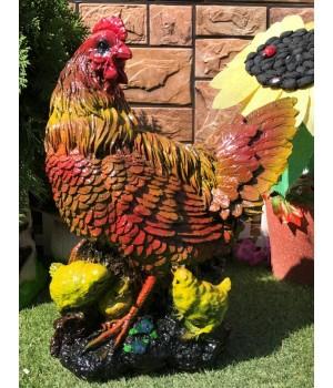 Садовая фигура Курица с цыплятами