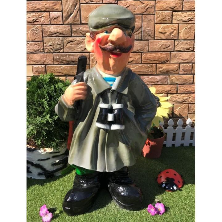 Садовая фигура Кузьмич в кепке