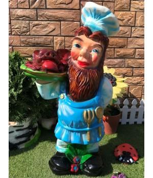 Садовая фигура Повар с блюдом