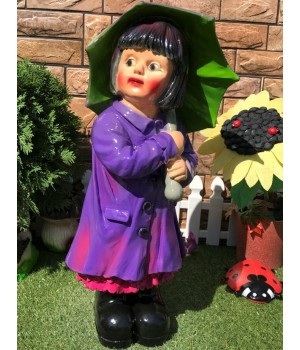 Садовая фигура Девочка под зонтиком