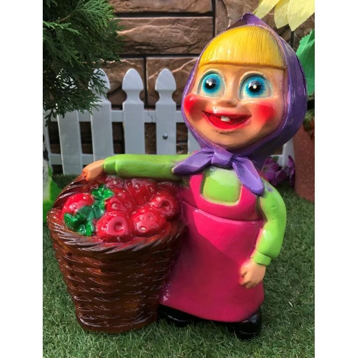Садовая фигура Алёнка с корзинкой
