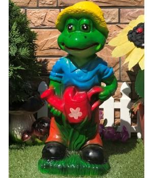 Садовая фигура Лягушка с лейкой