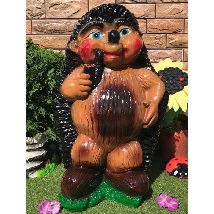 Садовая фигура Ёж курильщик