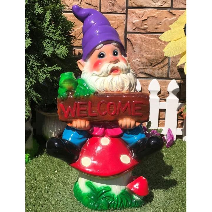 Садовый гном Welcome Добро пожаловать