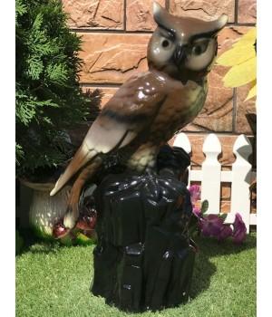 Садовая фигура Сова на пне