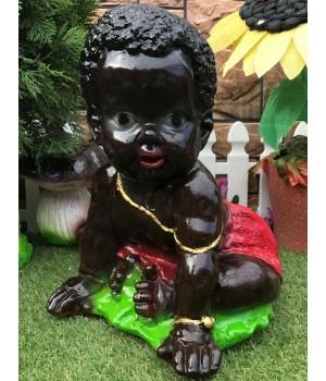 Садовая фигура Малыш негритосик