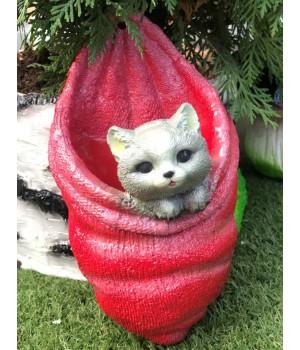 Кашпо настенное Котёнок