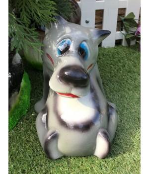 Садовая фигура Волк «Сейчас спою»