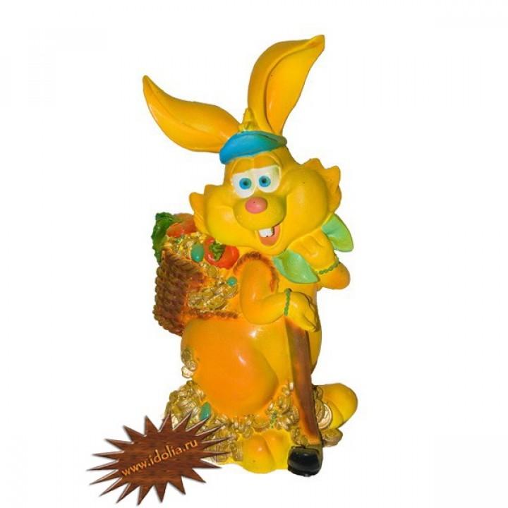 Садовая фигура Заяц золотоискатель