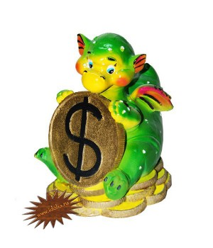 Копилка Дракончик с деньгами