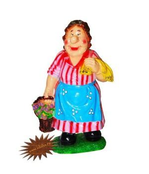 Садовая фигура Женщина с корзинкой